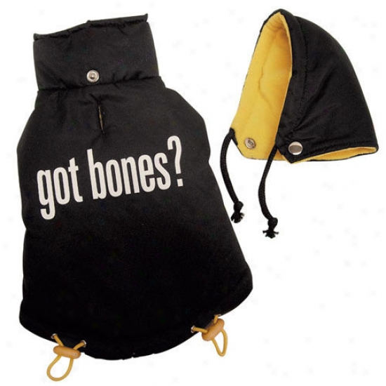 Klippo Pet ''got Bones'' Thick And Warm Dog Jacket