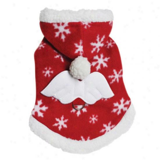 Klippo Pet Adorable Fleece Snowflake Dog Hoodie With Angel Wing