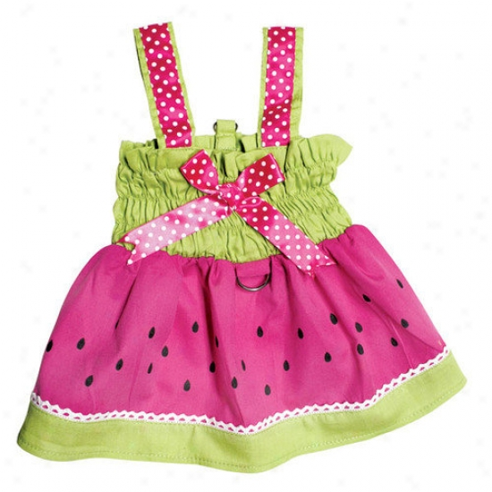 Klippo Pet Juicy Watermelon Dog Sundress By the side of Large D-ring For Easy Leash Attachment