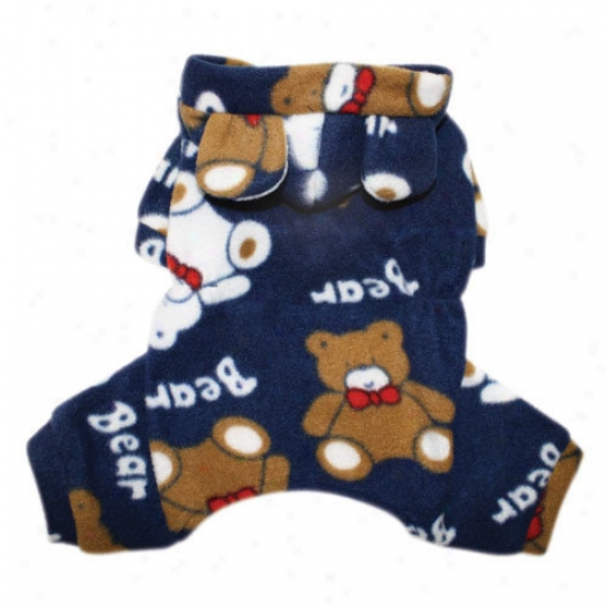 Klippo Pet Plush Teddy Bears Fleece Dog Pajamas / Bodysuit With Hood