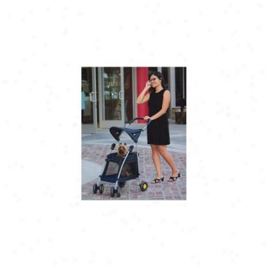 Kyjen Oh00646 Walk N Roll Pet Stroller - Navy Blue