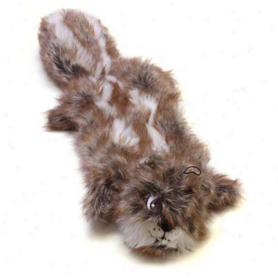 Kyjen Plush Puppies Squeaker True Animal Squirrel Dog Toy