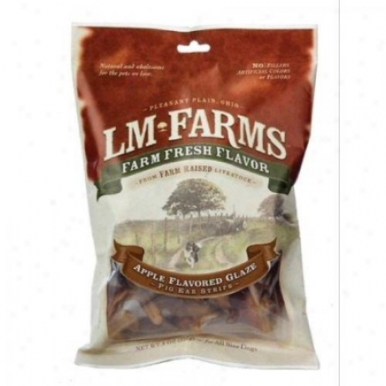 L M Animal Farms Applewood Glazed Pig Ear Strips