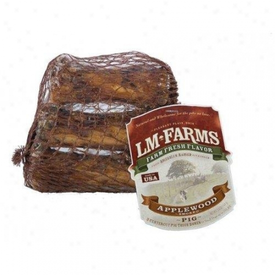L M Animal Farms Applewood Smoked Centercut Pig Thigh Bones