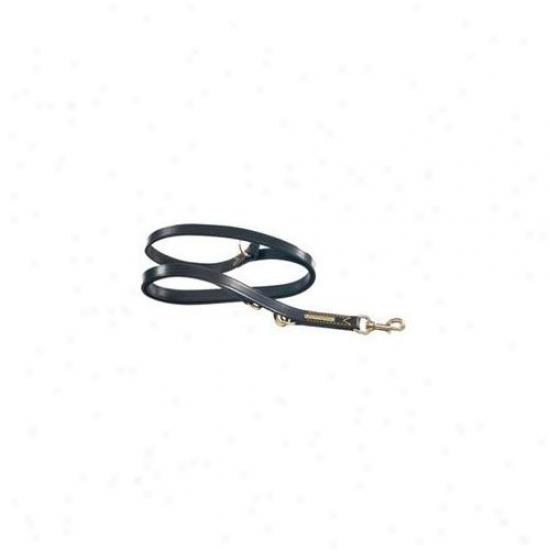 La Cinopelca R120 . 50 Inch X 70-. 8 Inch Double Training Leash- Blaci