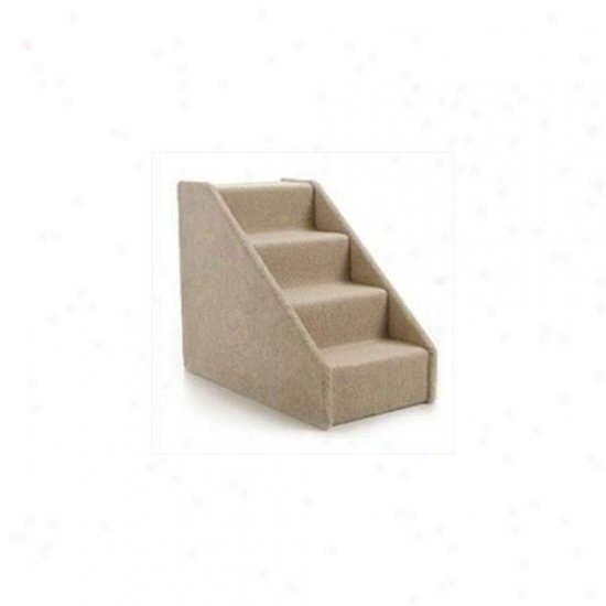 Lucky Cat Large Hard Side Pet Stairs - Four Measure