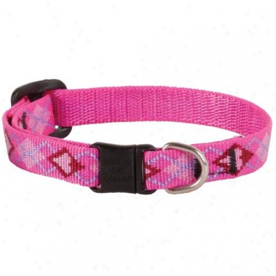Lupine Inc 14237 1/2 Inch X 8 Inch-12 Inch Adjustable Fop Love Intention Safety Cat Collar
