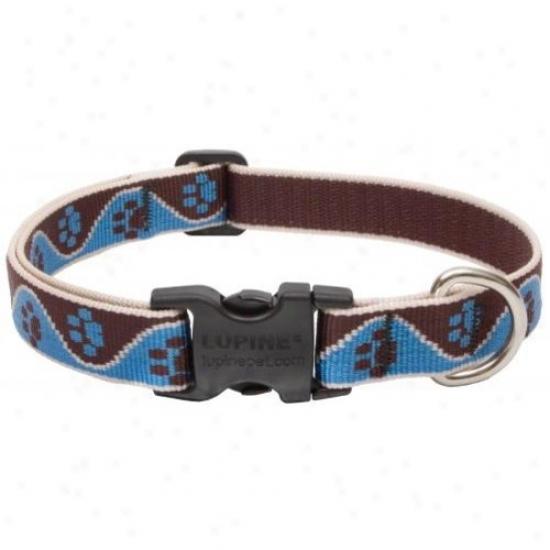 Lupine Inc 34502 3/4 Invh X 12 Inch-20 Inch Adjustable Muddy Paws Design Dog Collar