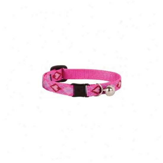 Lupine Inc . 50inch X 8inch-12inch Adjustable Puppy Love Design Safety Cat Collar With Bel