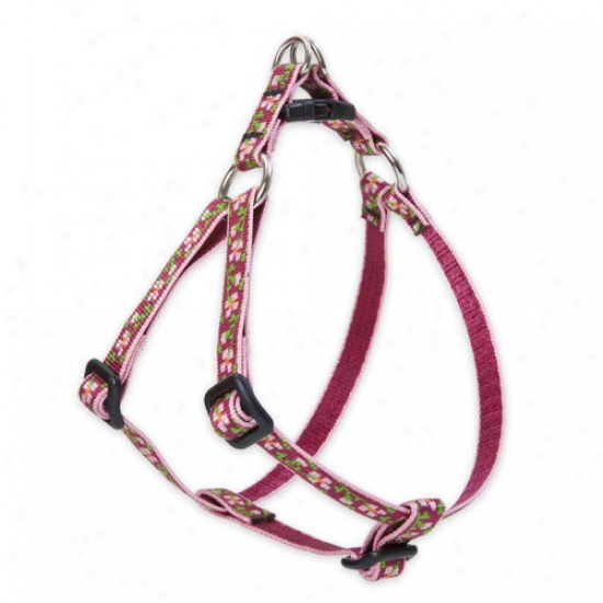 Lupine Pet Cherry Blossom 1/2'' Adjustable Small Dog Step-in Harness
