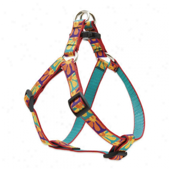 Lupine Pet Crazy Daisy 3/4'' Adjustable Medium Dog Step-in Harness
