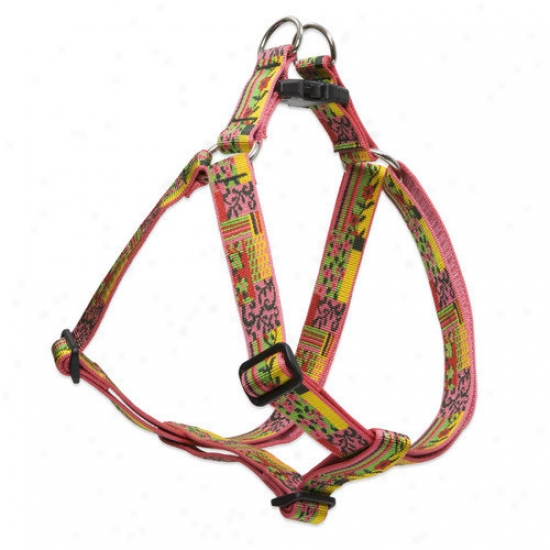 Lupine Pet Flower Patch 1'' Adjuztable Large Dog Step-in Harness