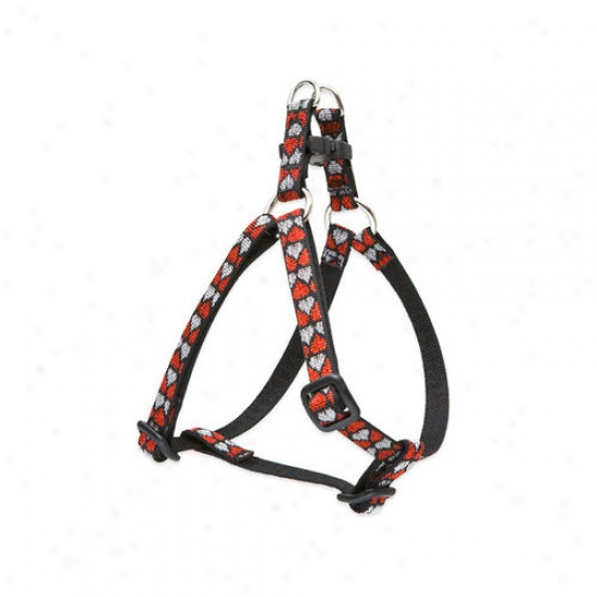 Lupine Pet Love Struck 1/2'' Adjustable Small Dog Step-in Harness