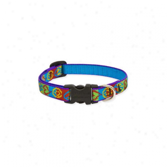 Lupine Pet Peace Pup 1/2&#039' Adjustable Small Dog Collar