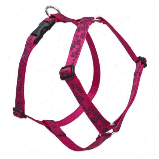 Lupine Pet Plum Blossom 1'&' Adjustable Large Dog Roman Harness