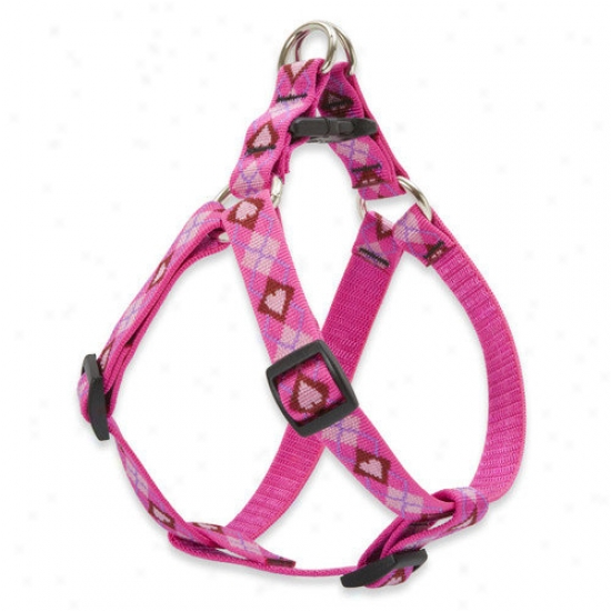Wolfish Pet Puppy Love 3/4'' Adjustable Medium Dog Stp-in Harness