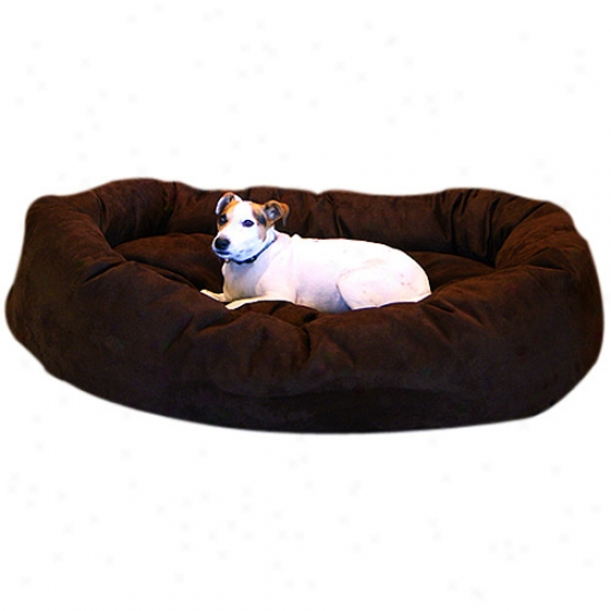 "Majestic Pet Bagel Favorite Bed Micro Suede Extra Large, 52""x35""x11"""