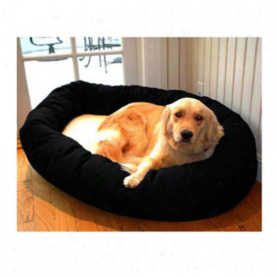 Majestic Pet Products Bagel Dog Bed In Negro And Sherpa