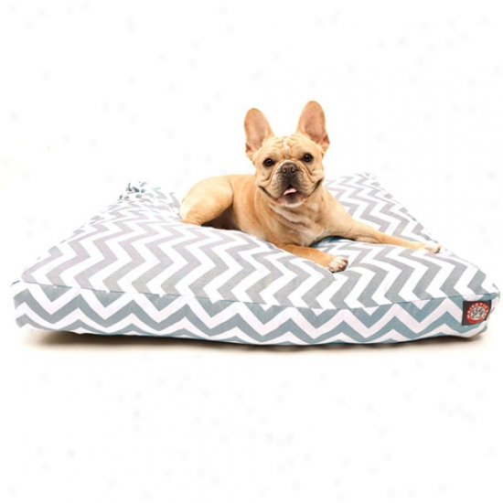 Majestic Favorite Products Chevron Rectangle Pet Bed, Gray