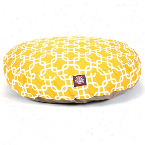 Majestic Pet Products Links Round Pet Layer, Yellow