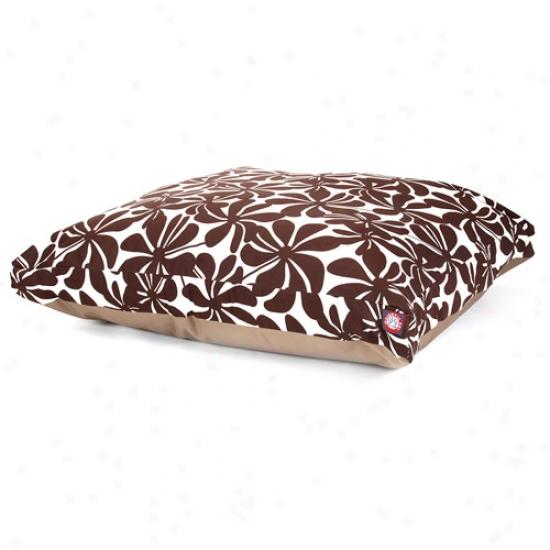 Majestic Pet Products Plantation Rectqngle Pet Bed, Chocolatw