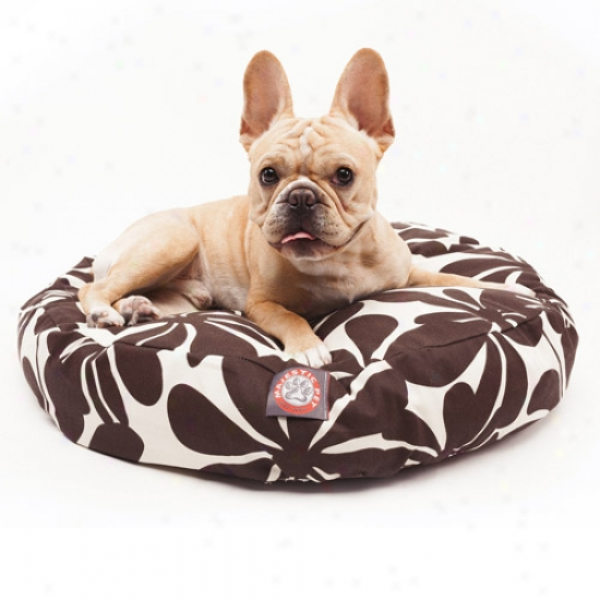 Majestic Pet Products Plantation Round Pet Bed, Chocolate