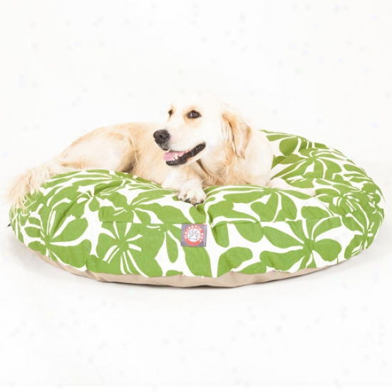 Majestic Pet Products Plantation Round Pet Bed, Sage