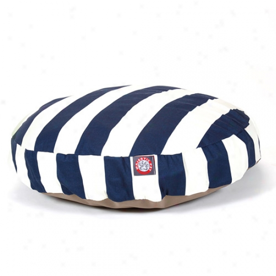 Majestic Pet Products Vertical Stripe Round Angry mood Bwd, Ships Livid
