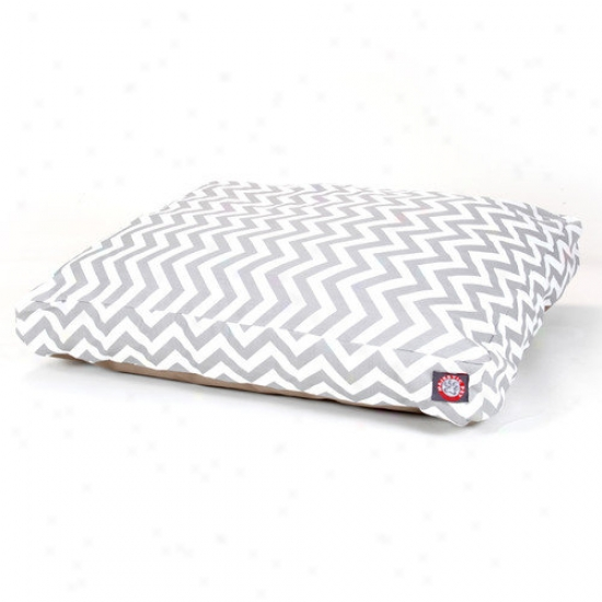 Majestic Pet Products Zig Zag Rectangle Pet Bed