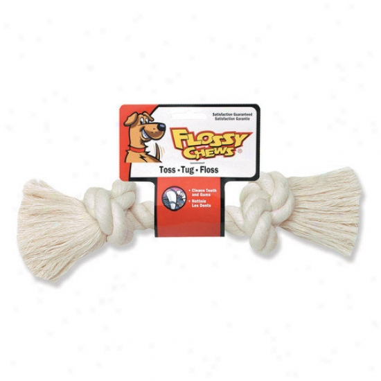 Mammoth Pet Products Rope Bone Dog Toy In Whiy3