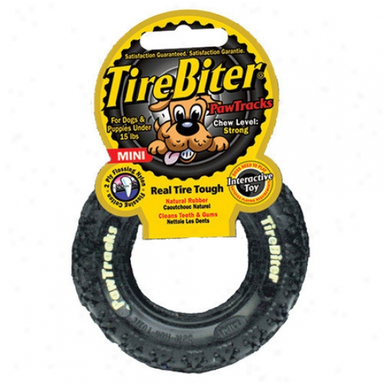 Mammoth Pet Products Tire Cheat Paw Track Dog Toy In Black