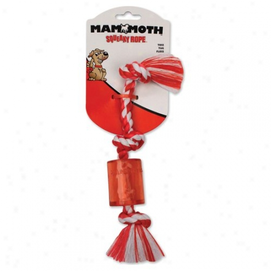 Mammoth Squeaky Rope Mini Dog Toy