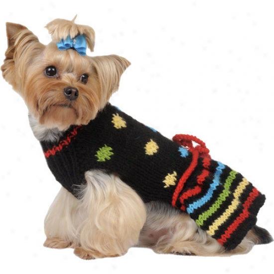 Max's Closet Dots Stripes Sweater Dress