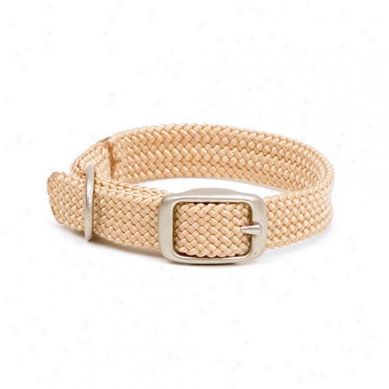 Mendota Double Braid Junior Collar In Sand / Brushed Nickel Hardware