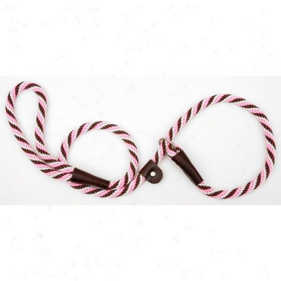 Mendota Small Twist Slip Lrash In Pink Chocolate