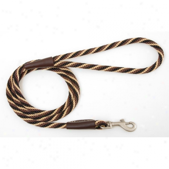 Mendota Small Twist Snao Leash In Mocha