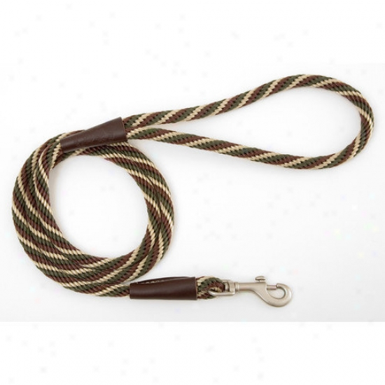 Mendota Small Twist Snap Leash In Woodlands