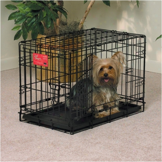 Midwest Homes For Pets Life Stages Fold & Carry Double Door Dog Crate