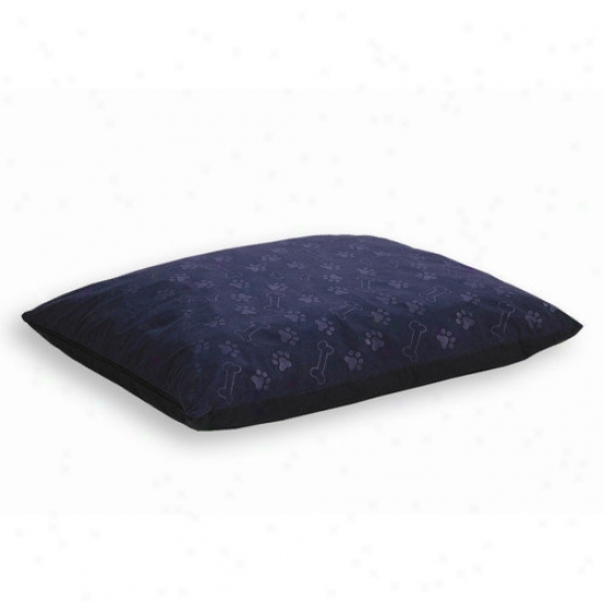 Midwest Homes For Pets Quiet Time E'sensuals Paw Print And Bone Design Rectangle Dog Bed