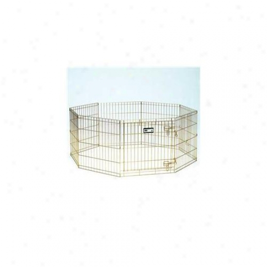 Midwest Metals 546-42 Gold Zinc Exercise Pen: 24w X 42h