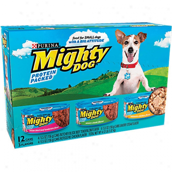 Mighty Dog Variety Pack Canned Dog Food, 5.5 Oz, 12 Count