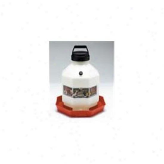 Miller Poultry Fountain Waterer Pure Red 3 Gallon - Ppf-3