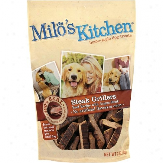 Milo's Kitchen Home-style Steak Grillers Dog Treats, 3 Oz