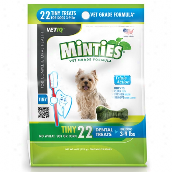 Minties From Vetiq Tiny Dog Dental Treats, 6 Oz