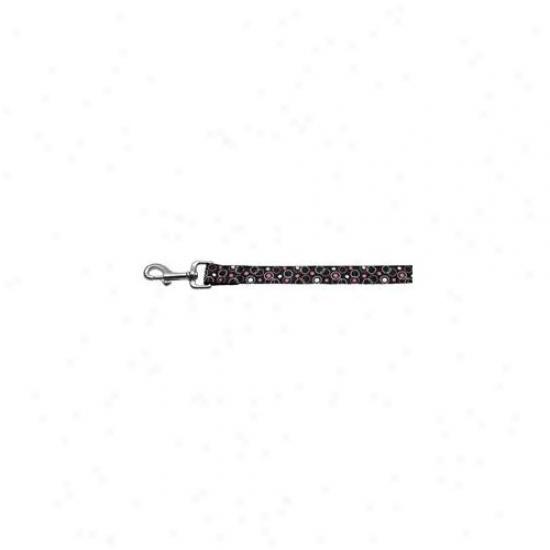 Mirage Pet Products 125-003 1004bk Retro Nylon Ribbon Collar Black 1 Wide 4ft Lsh