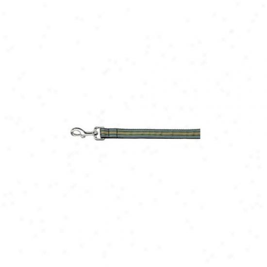 Mjrage Pet Prdoucts 125-007 1004bl Preppy Stripes Nylon Ribbon Collars Light Blue - Khaki 1 Wide 4ft Lsh