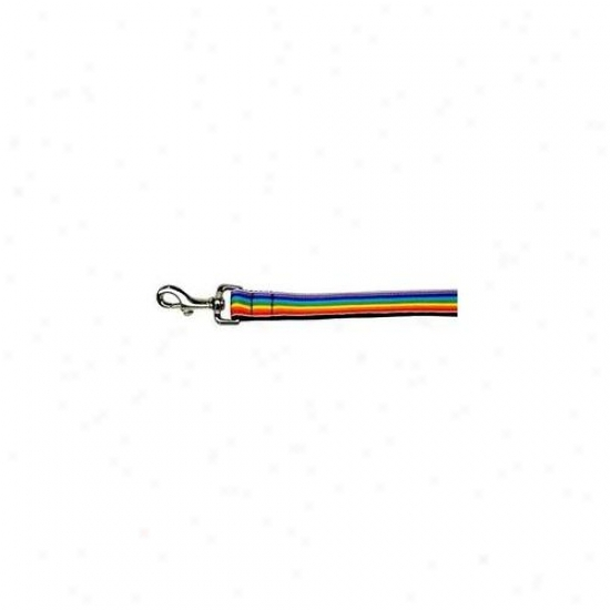 Mirage Pet Products 125-008 1004 Rainbow Striped Nylon Collars Rzinbow Stripes 1 Wide 4ft Lsh