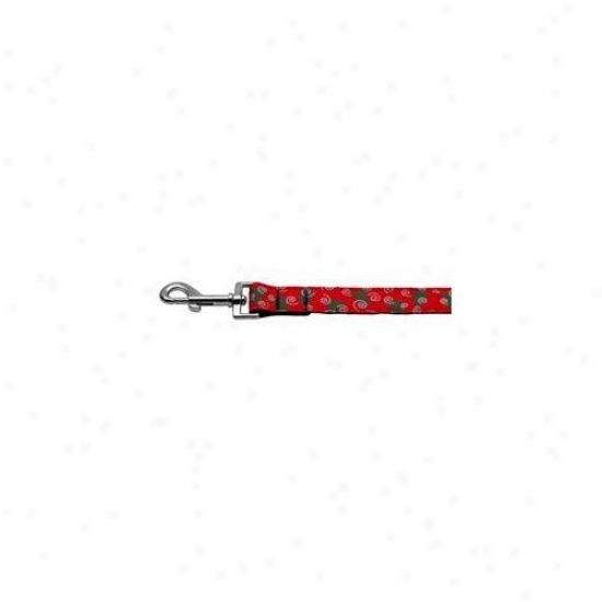 Mirage Pet Products 25-09 1006 Christmas Trees Nylon And Ribbon Collars .  1 Inch  Wide X 6 Leash