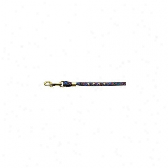 Mirage Pet Products 80-01 Blpdjwl Plaid Leash Blue Clear Stones