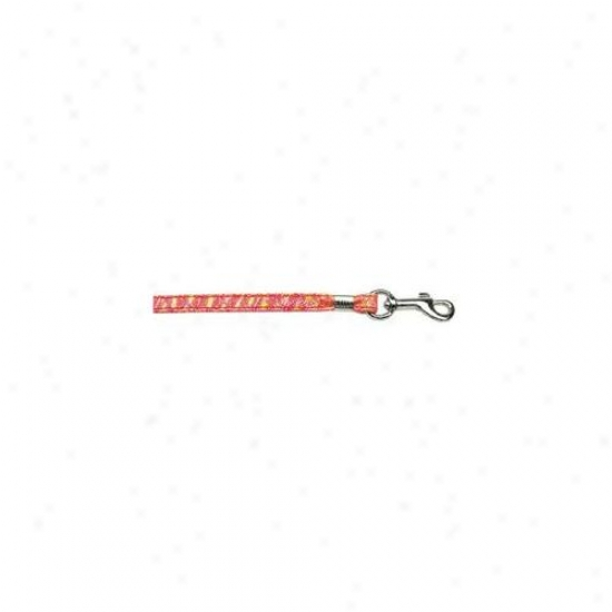 Mirage Pet Products 80-03 Rdt Rd Twinkle Plain Leash Red . 38 Inch